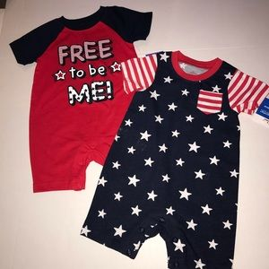 2 for $8.00 patriotic outfits. 6-9 months.